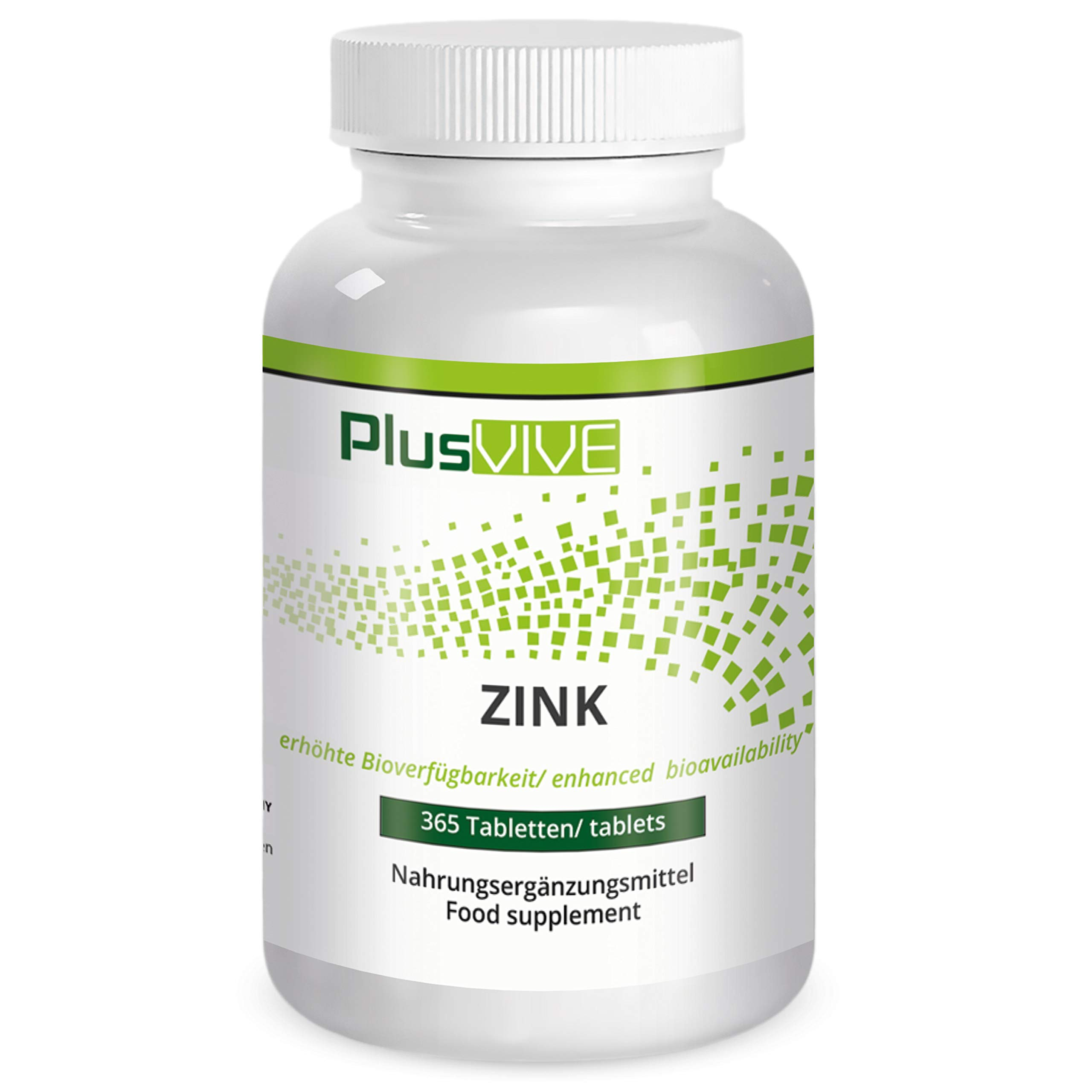 Plusvive Zinc 25mg with Bioavailability Matrix, 365 tablets