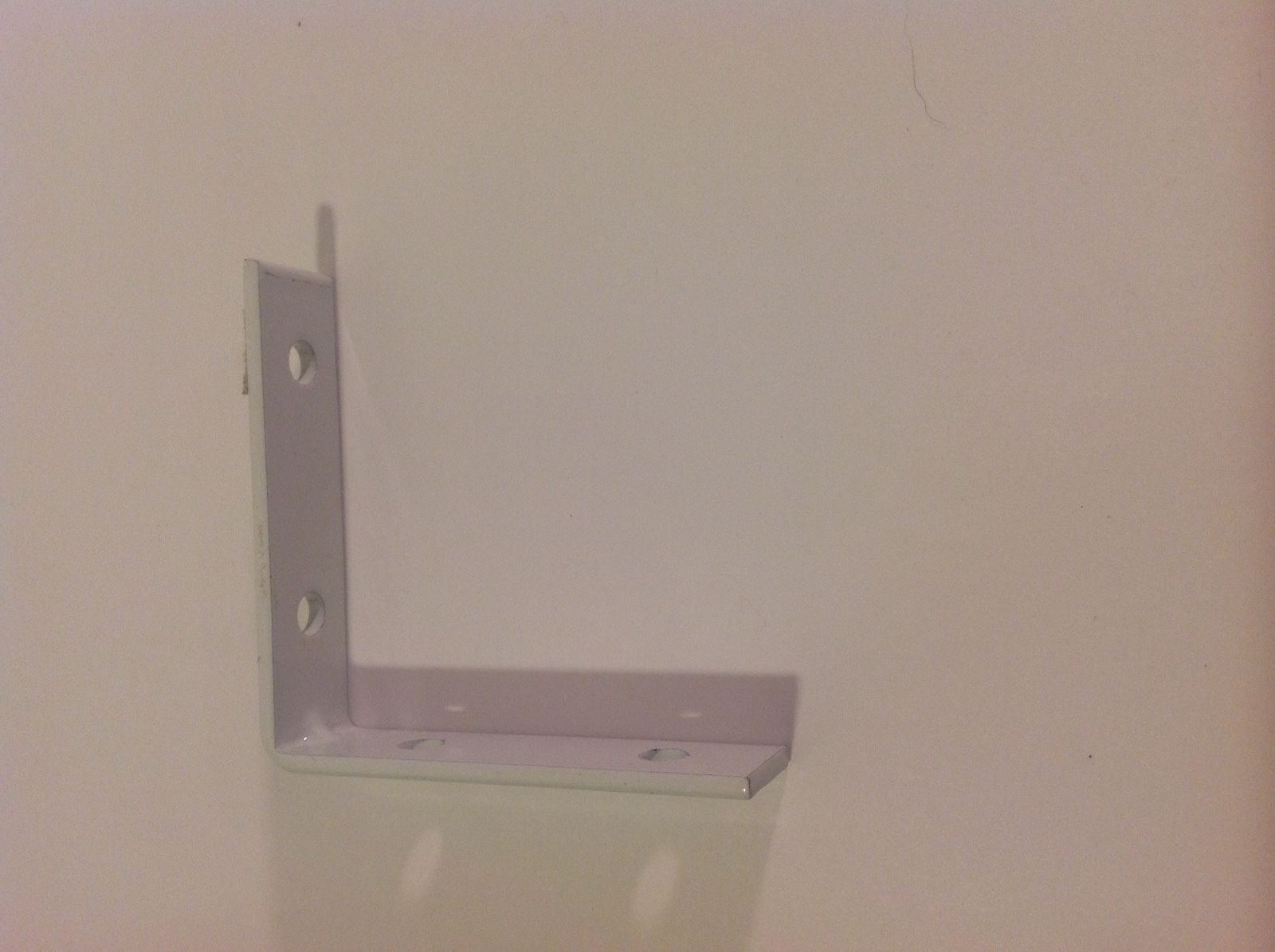 ALF_CAD 3 x 3 Angle Iron white L Bracket Corner Brace Metal Install Shelf Cabinet