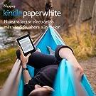 Kindle Paperwhite, pantalla E-ink de alta resolución, luz integrada, color Negro, Wi-Fi