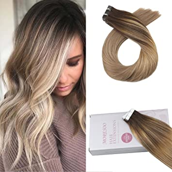 Moresoo 16 Zoll40 Cm Tape In Extensions Human Hair Remy