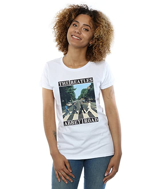 The Beatles Mujer Abbey Road Camiseta Small Blanco