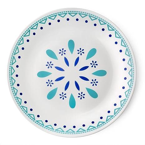 Corelle Livingware Santorini Sky 10.25u0026quot; Dinner Plate ...  sc 1 st  Amazon.com & Amazon.com | Corelle Livingware Santorini Sky 10.25