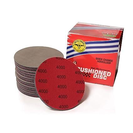 25 Discs Insta Finish Sanding Discs DA 4000 Grit Hook /& Loop