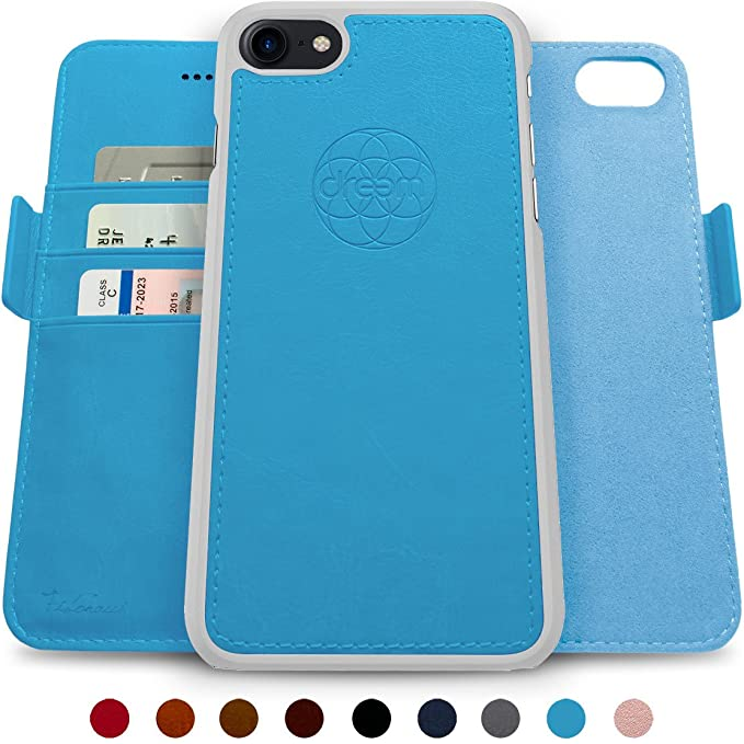 new arrival 974fa ea760 Dreem Fibonacci 2-in-1 Wallet-Case for iPhone 8 & 7, Magnetic Detachable  Unbreakable TPU Slim-Case, Wireless Charge, RFID Protection, 2-Way Stand,  ...