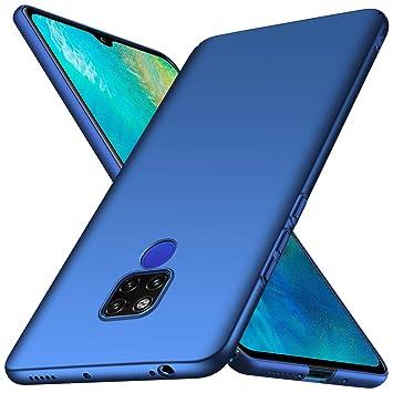 anccer Funda Huawei Mate 20 X [Serie Colorida] [Ultra-Delgado] [Ligera] Anti-rasguños Estuche para Carcasa Huawei Mate 20 X (Azul Liso)