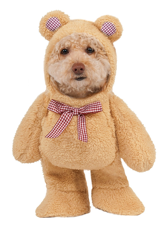 Walking Teddy Bear Pet Costume - Medium