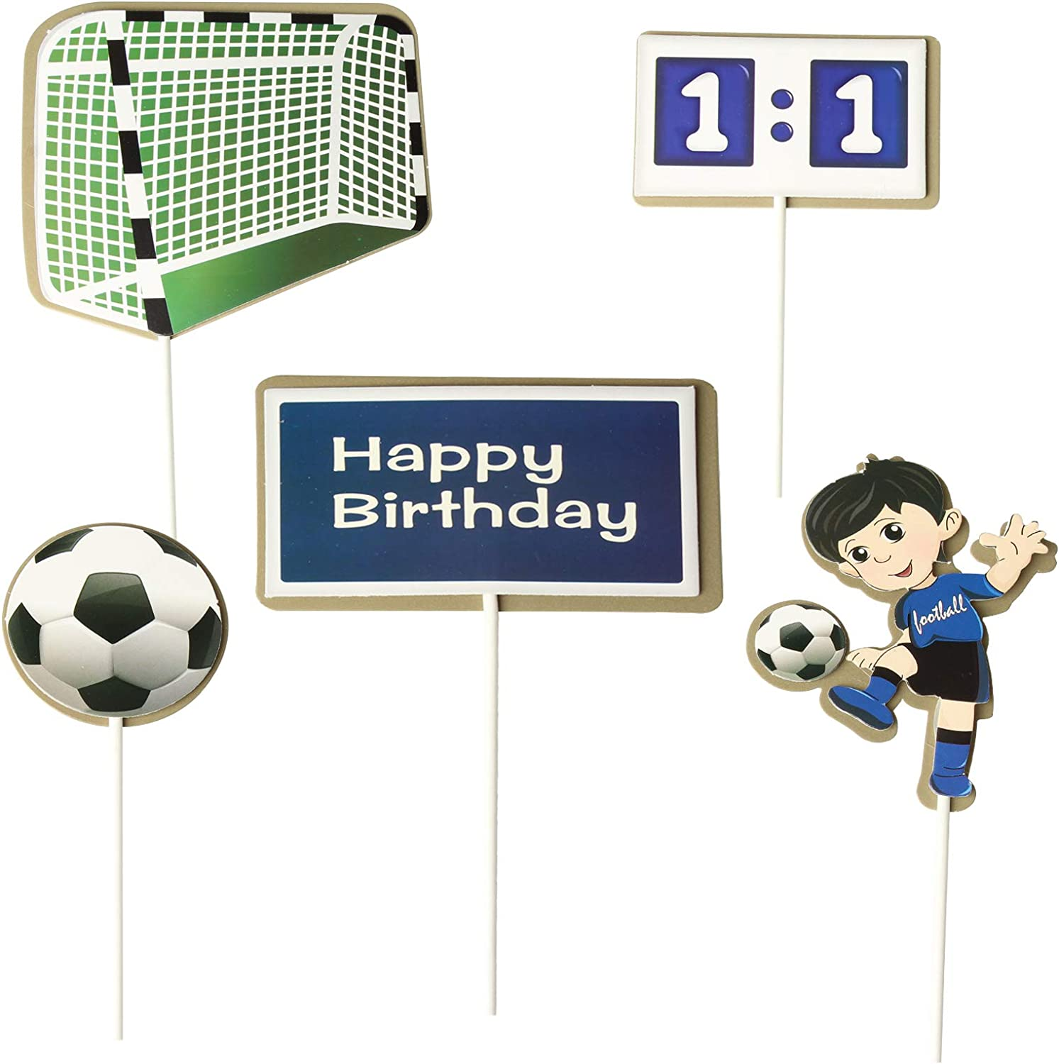 Birthday Cake Topper Decoration Creative Football Lovers Cake Supplies Happy Birthday Boy Party Decoration