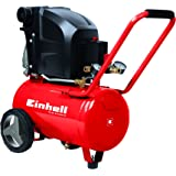 Einhell Kompressor TE-AC 270/24/10 (1,8 kW, 24 L, Ansaugleistung 270 l/min, 10 bar, ölgeschmiert, große Räder und Haltebügel)