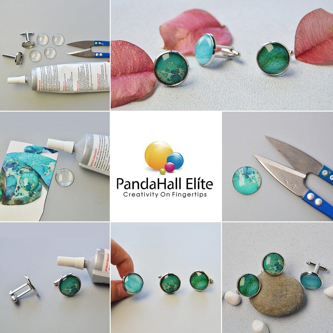 pandahall Elite 30pcs//Boite Cabochon en Verre Demi-Rond Plat Transparent Diameter in 20mm pour Scrapbooking Photo DIY Bijoux