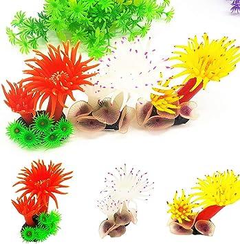 Yellow Aquarium Ornament yanQxIzbiu Aquarium Fish Tank Realistic Artificial Coral Underwater Decoration Ornament