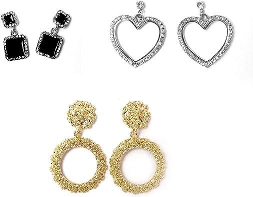 Cubic Zirconia Vintage Earrings elegant earrings dangles, wedding Earrings Statement Earrings black and gold earrings Dangle Earrings