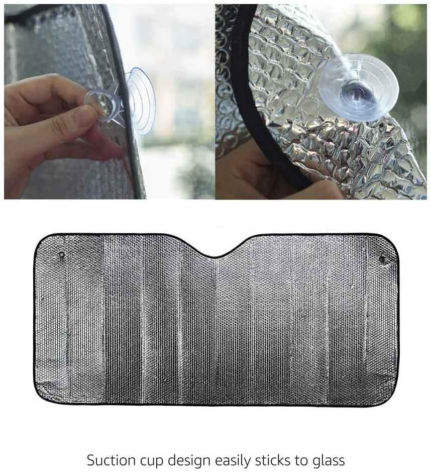 Basics Pare-soleil anti-UV pliant pour pare-brise avant 130 x 58,4/cm /Épaisseur 2/mm