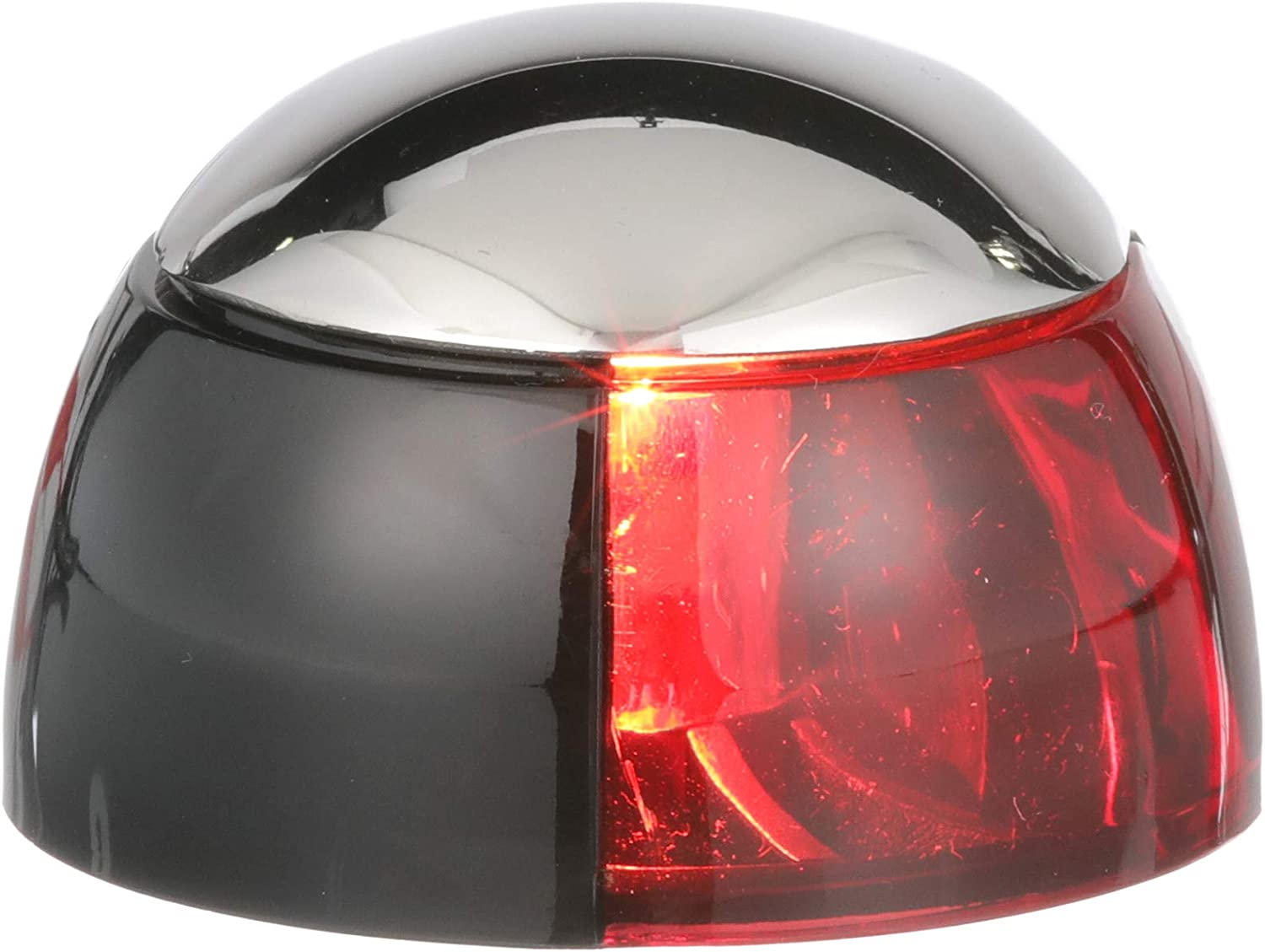 Port Red Side Mount Bow Navigation Light for Boats 1 Mile
