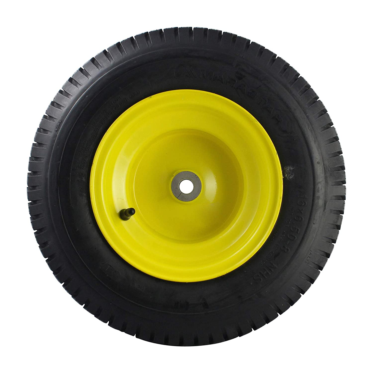 MARASTAR 21456 16x6.50-8 Front Tire Assembly Replacement for John Deere Riding Mowers