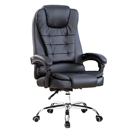 office reclining chairs. High Back Big And Tall Executive Office Chair Ergonomic Comfortable Heavy Duty Leather Swivel Recliner Task Reclining Chairs .