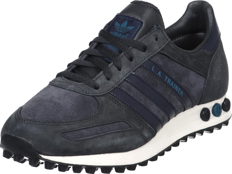 D65663|Adidas LA Trainer Carbon|45 1/3