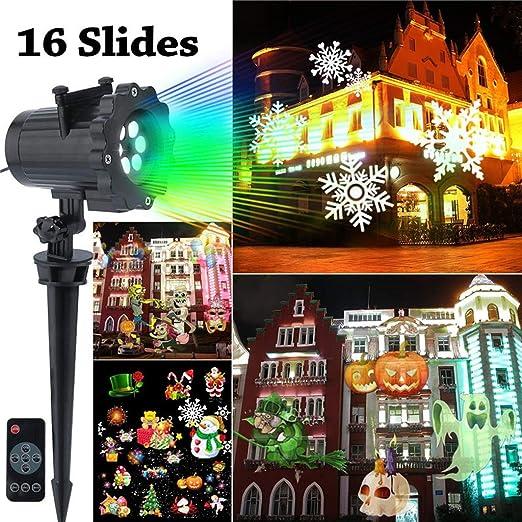 Cajolg Proyector LED Luces de Navidad Al Aire Libre Interior ...