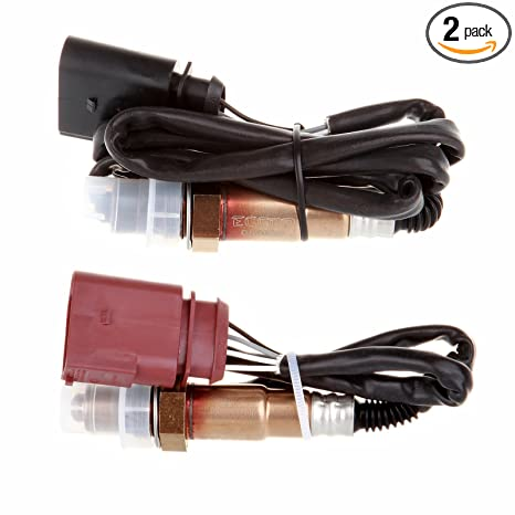 SCITOO Oxygen Sensor O2 Downstream Sensor 2 Bank 1 Bank 2 Compatible with  1999-2005 Volkswagen VW Jetta 1999-2002 VW Golf 1998-2001 VW Beetle