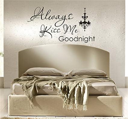 Amazon.com: Romantic Bedroom Wall Decals, Master Bedroom Decals ...