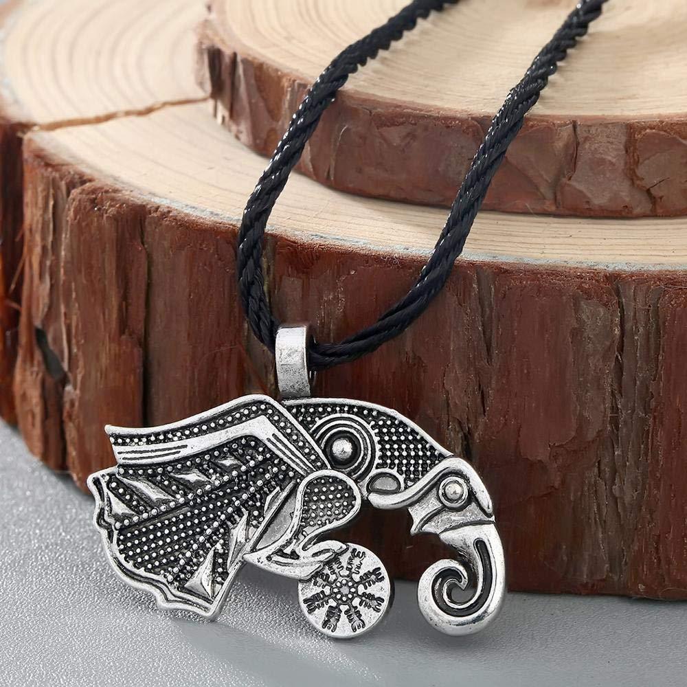 Valknut Viking Men Necklace Punk Norse Slavic Rope Chain Pendant Viking Pendant Necklace Punk Bar Necklace