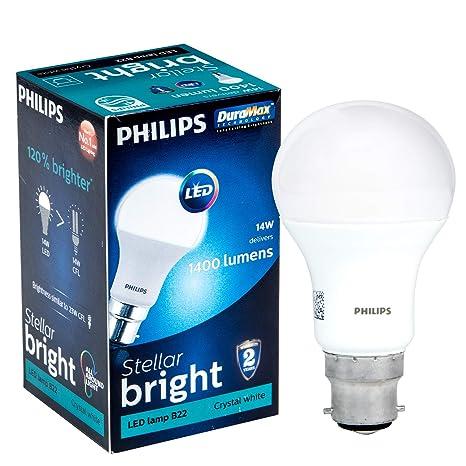 Philips Stellar Bright 14 Watt Led Bulb Base B22 Cool Day Light
