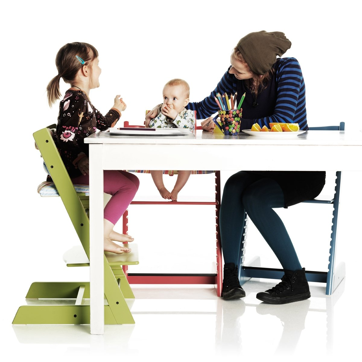 Amazon.com : Stokke Tripp Trapp Chair, Black : Childrens Highchairs : Baby