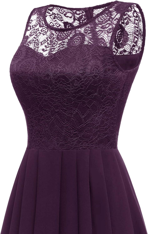 Dressystar Womens Hi-Lo Lace Bridesmaid Dress Formal Prom Dress