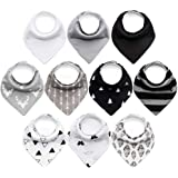 10-Pack Baby Bandana Bibs Upsimples Baby Boys Bibs for Drooling and Teething, Super Absorbent Bibs Baby Shower Gift - Dawn Se