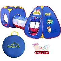 Peradix Tenda 3 in 1 per bambini nell'interno ed esterno, Tunnel gioco e Play Tent Caetta-Tubo-Tenda Pop Up per bambini SFERE NON INCLUSA