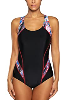 b766170dc5 CharmLeaks Womens Sports One Piece Swimsuit Athletic Swimwear Swimming  Costumes