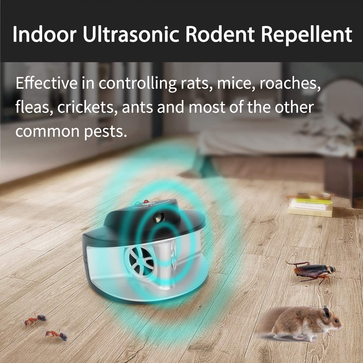 Thanos Ultrasonic Electronic Mouse Mice Rat Squirrel Rodent Pest Repeller Repellent Deterrent: Health & Personal Care