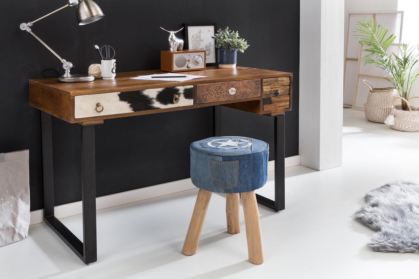 Finebuy Schreibtisch Kanpur 60 120 X 60 Kanpur X 79 Cm Massiv Holz