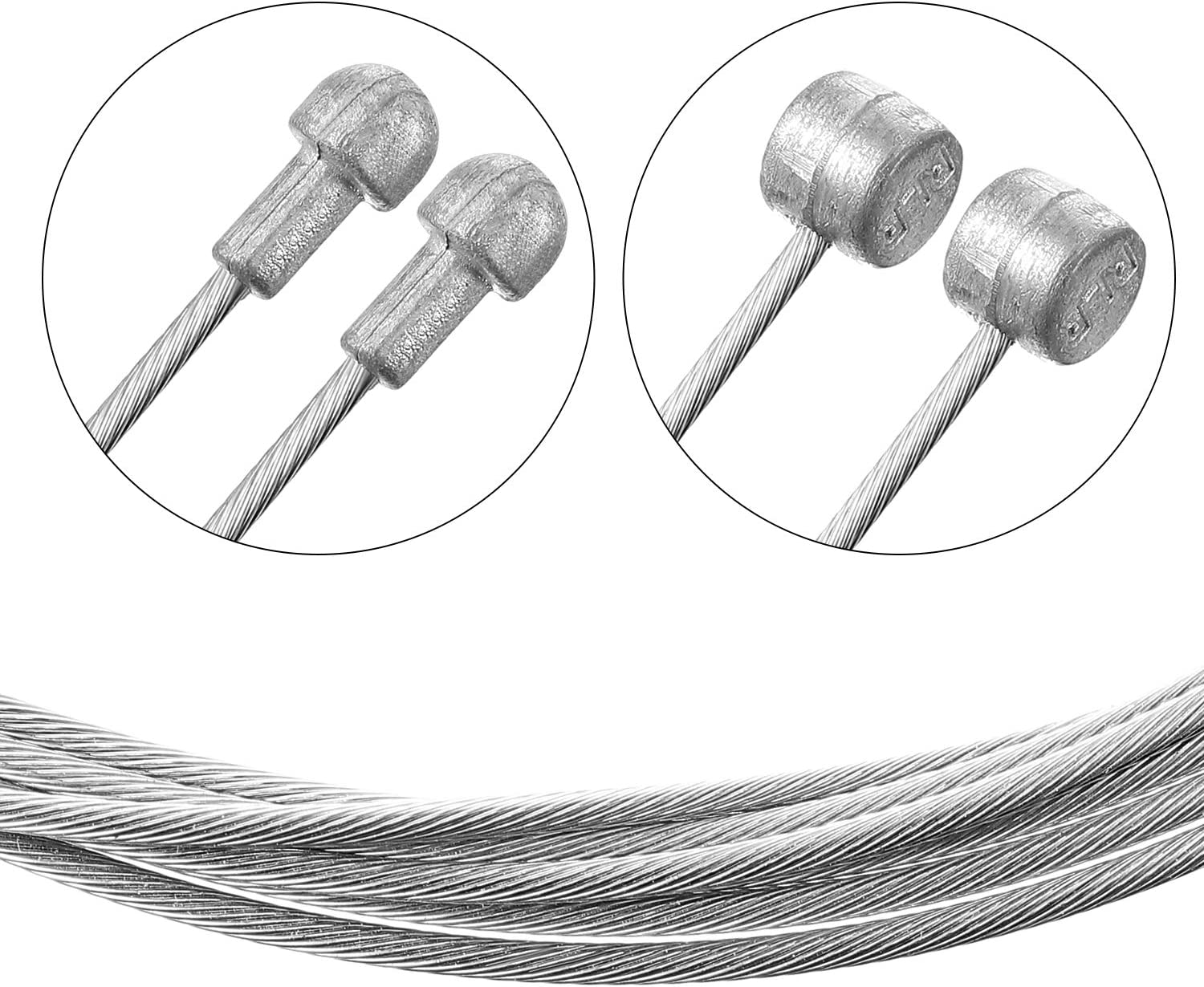 Bike Brake Cable Housing Kit Cycling Bicycle Brake Line Wire Cap Rotating S-Hook End Cap for Mountain and Road