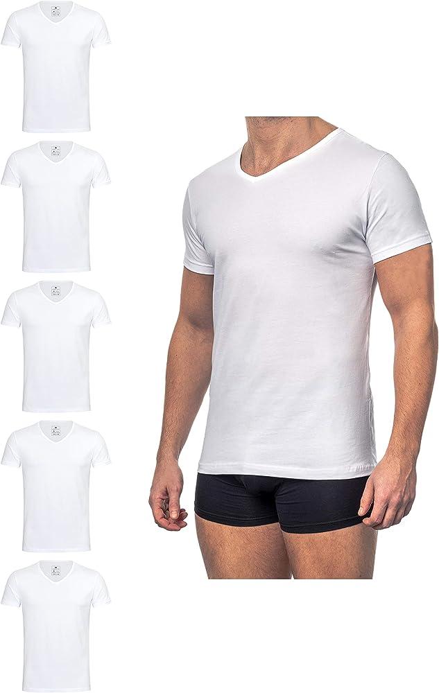 Burnell & Son Business - Camiseta interior para hombre (4 unidades) con cuello de pico para hombre de algodón transpirable (tallas: S - 3 XL; color blanco) Blanco S: Amazon.es: Ropa y accesorios