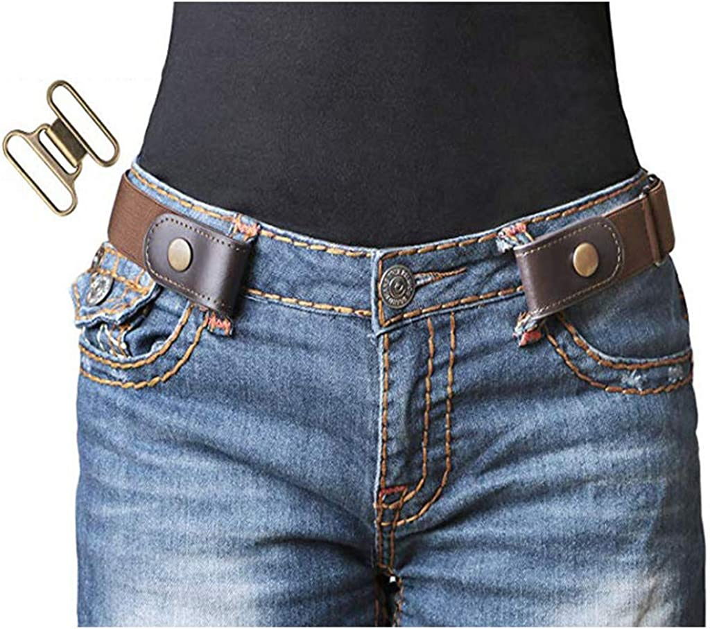 Women Buckle-free Hassle Comfortable Invisible Belt for Jeans No Bulge Elastic-A