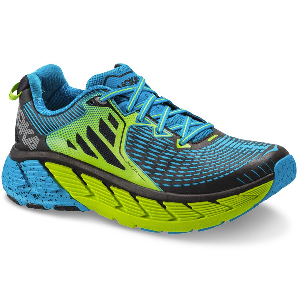 sale retailer b9330 ad17f HOKA ONE ONE Gaviota Bright Green/Blue Men's Running Shoes (9)
