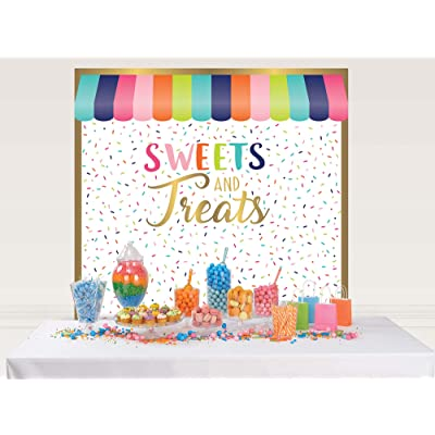 "Sweets & Treats Party Scene Setters 65"" X 65"" - Multicolor, 2 Ct: Toys & Games"
