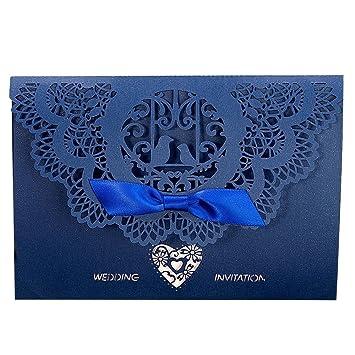 amazon com laser cut invitations gospire 20pcs wedding invitation