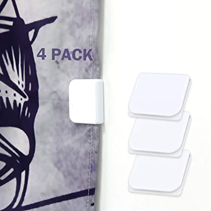Shower Curtain Clips Wimaha 4 Pack Splash Guard Self Adhesive Windproof Stop Protect