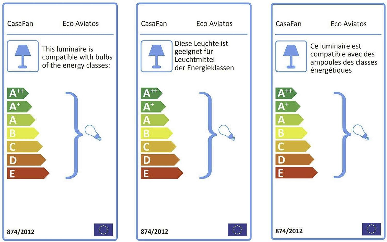 ala Ventilador de Techo 2-focos Eco Aviatos Color Color tama/ño: 162 cm de di/ámetro : lacada en Blanco : Arce Estructura