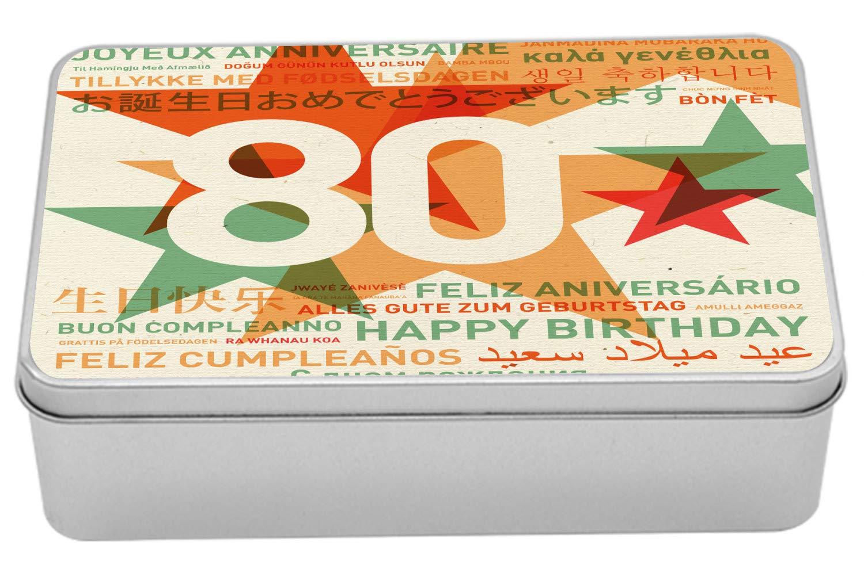 Amazon.com: Ambesonne 80th Birthday Metal Box, 80 Years Old ...