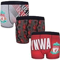 Liverpool FC - Pack de 3 calzoncillos oficiales de estilo bóxer - Para niños - Con el escudo del club