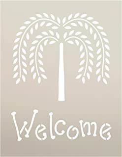 Primitive Willow Tree Welcome Word Stencil By StudioR12