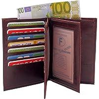 LIVAN® -Portefeuille Grand Classique Porte 20 Carte crédit Billet Monnaie en Cuir synthétique Homme