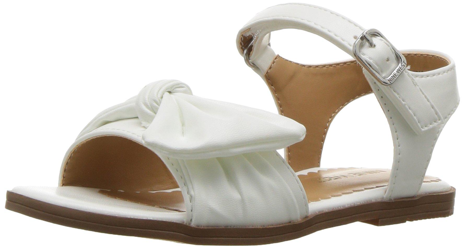 Nine West Girls' KEIRITA Flat Sandal, White