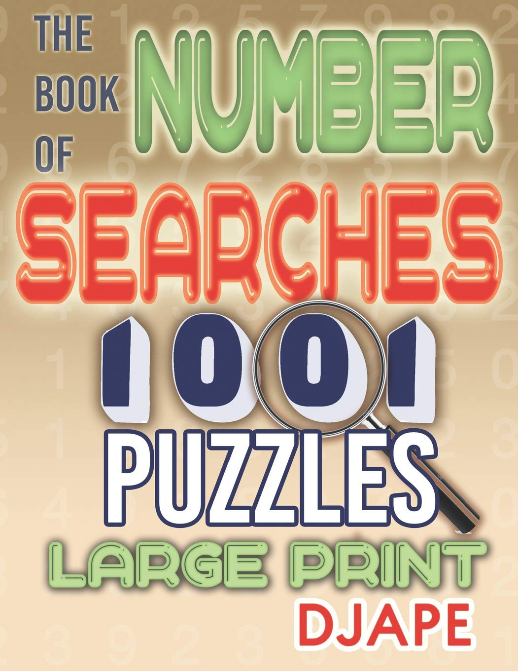 Book Number Searches Puzzles Large