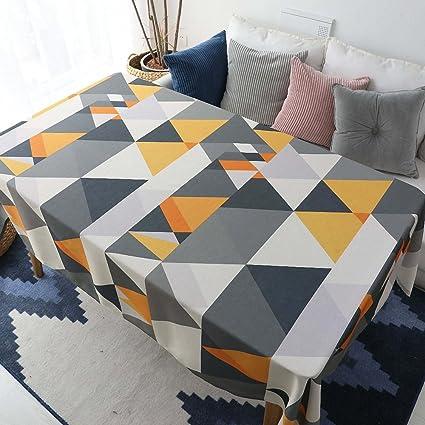 Mantel para Mesa Patrón de Triángulo Geometría de Cocina Salón Rectangular Impermeable Lavable Diseño de Comedor
