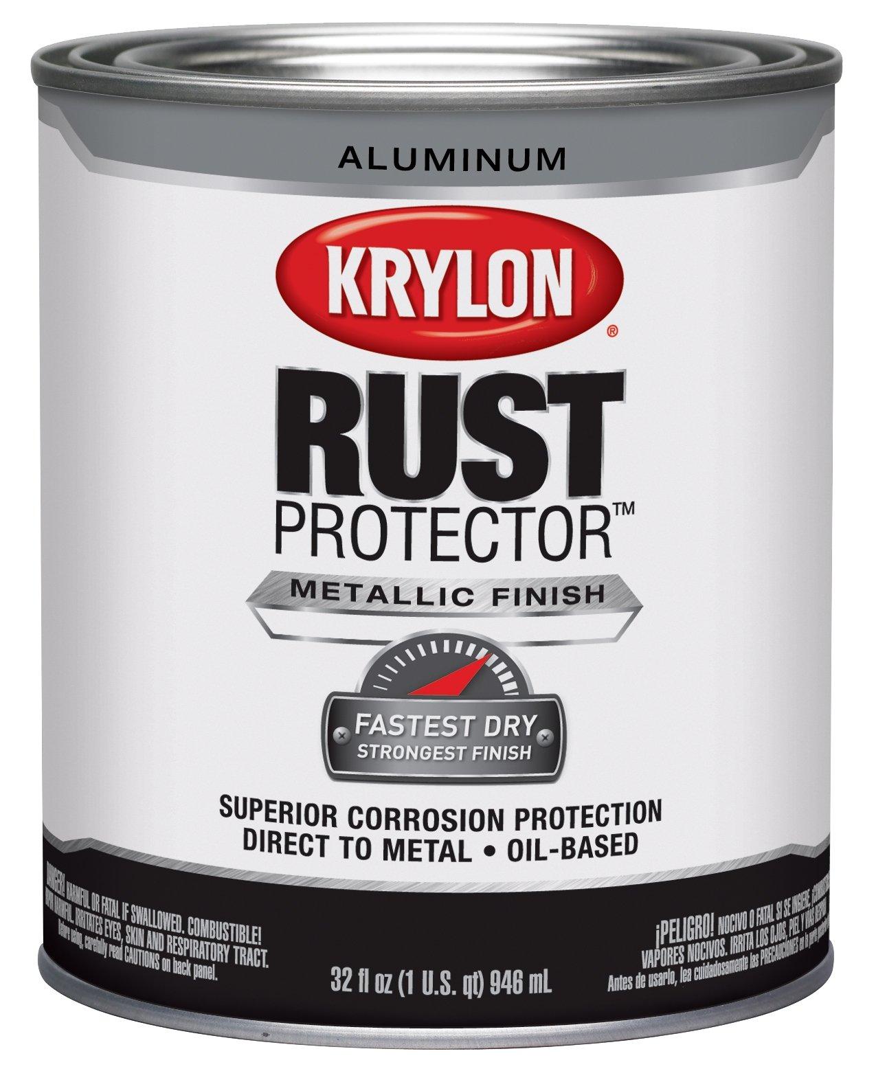 Krylon K06921200 Rust Protector and Preventative Enamel with Primer Quarts, Aluminum