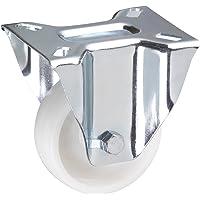 Metafranc Bokwiel Ø 80 mm - 100 x 82 mm plaat - polyamide wiel - hard loopvlak - glijlagers - 150 kg draagkracht…