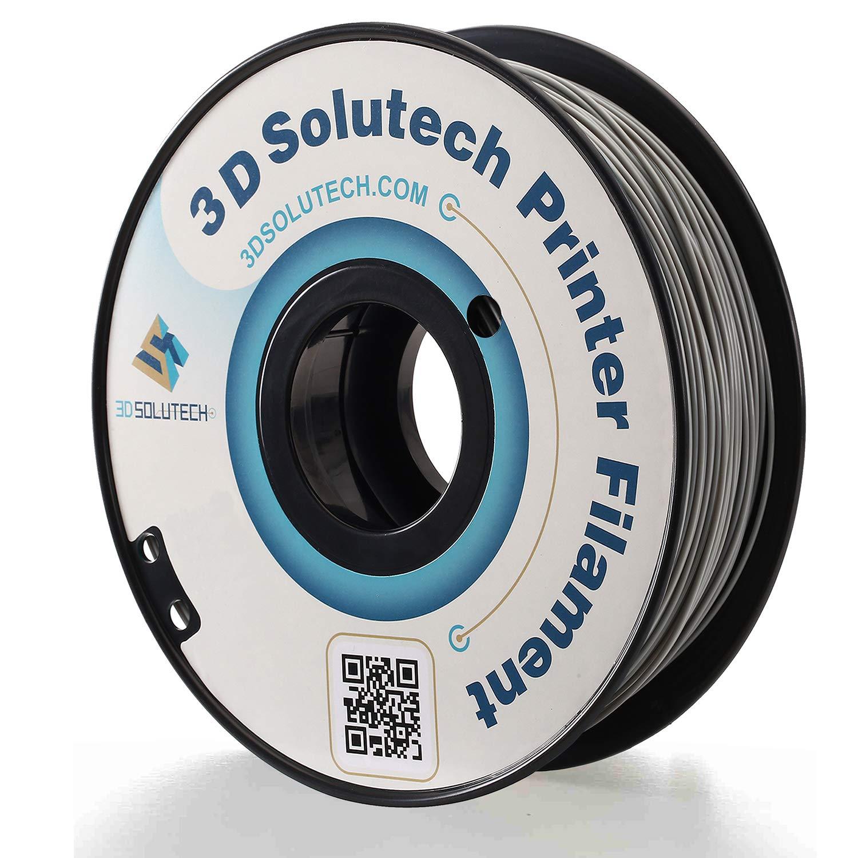 3D Solutech Real Grey 3D Printer PLA Filament 1.75MM Filament, Dimensional Accuracy +/- 0.03 mm, 2.2 LBS (1.0KG) - PLA175RGY